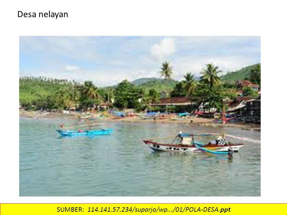 Desa nelayan SUMBER: 114.141.57.234/suparjo/wp.../01/POLA-DESA.ppt