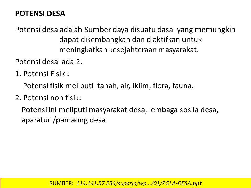 Contoh ds industri SUMBER: 114.141.57.234/suparjo/wp.../01/POLA-DESA.ppt
