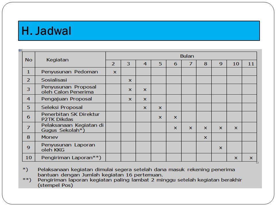 H. Jadwal