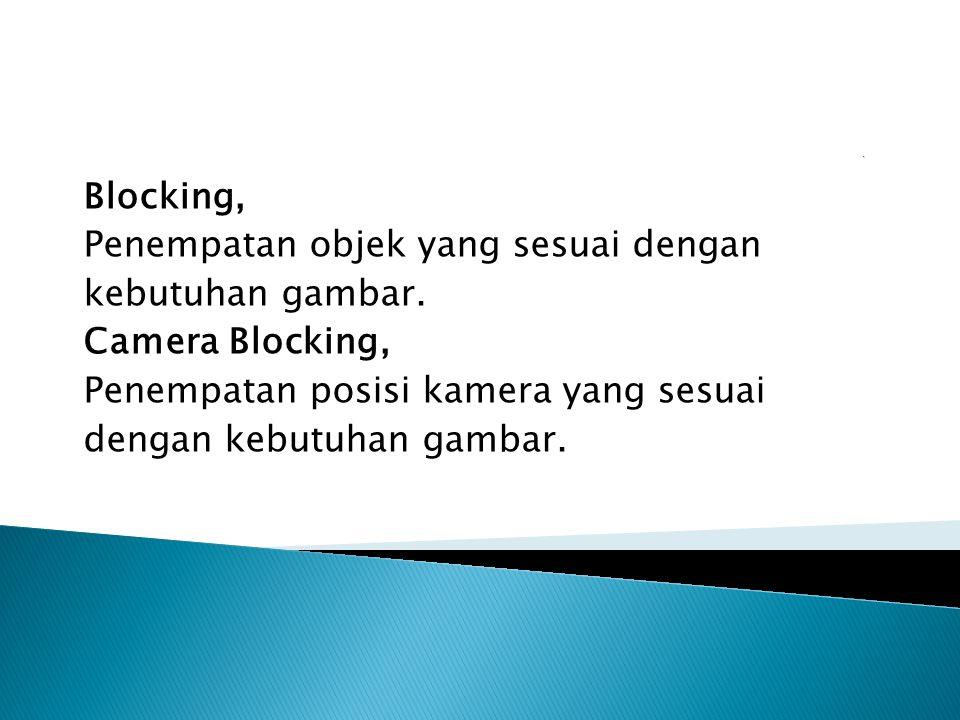 Blocking, Penempatan objek yang sesuai dengan kebutuhan gambar.
