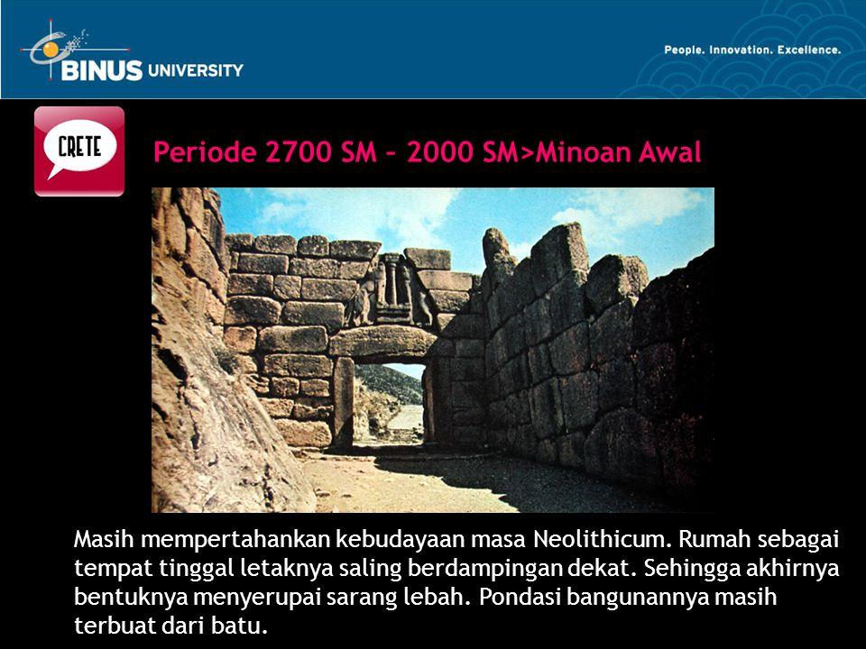 Masih mempertahankan kebudayaan masa Neolithicum. Rumah sebagai tempat tinggal letaknya saling berdampingan dekat. Sehingga akhirnya bentuknya menyeru