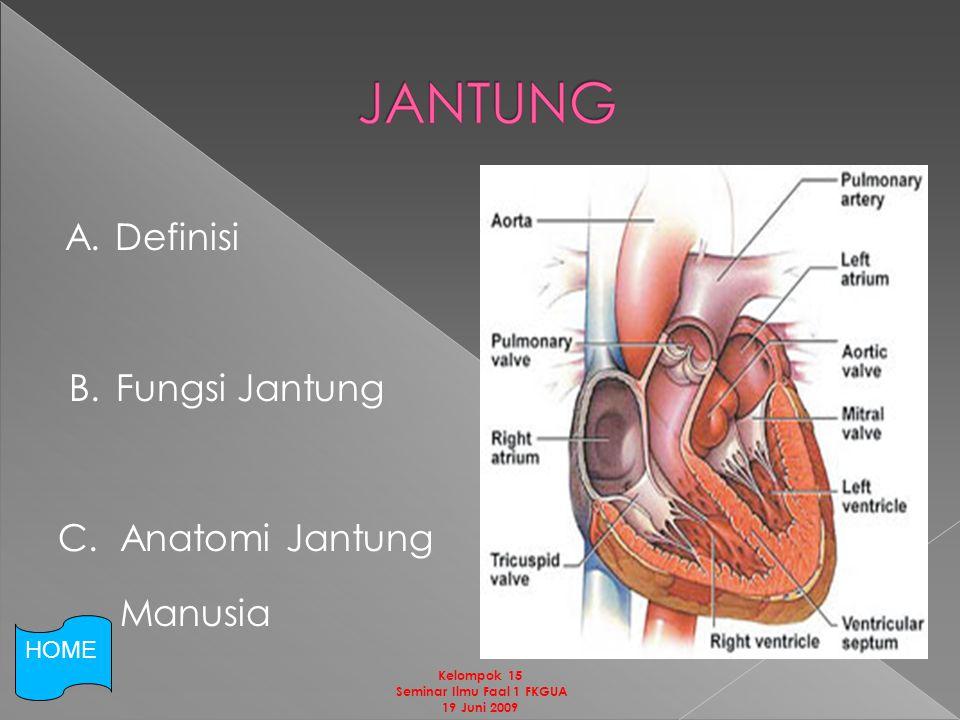 A.Definisi B. Fungsi Jantung C.