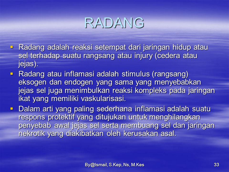 By@Ismail, S.Kep, Ns, M.Kes32 Iskemik  Iskemia yang perlahan-lahan ditemukan pada: 1.Aterosklerosis, karena menebalnya intima, lumen akan menjadi sem