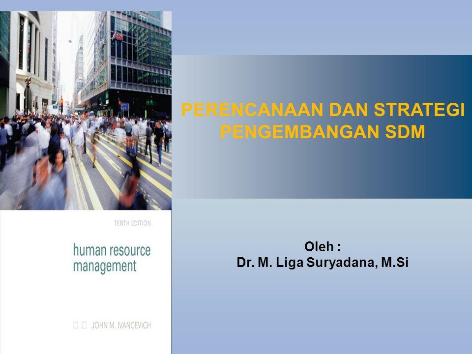 PERENCANAAN DAN STRATEGI PENGEMBANGAN SDM Oleh : Dr. M. Liga Suryadana, M.Si