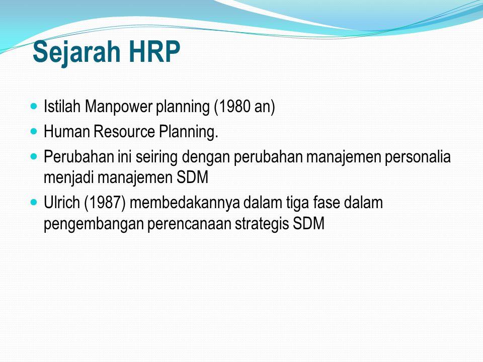 Potensi HRP yang efektif Potensi jalan yang dapat diambil untuk memaksimalkan perencanaan SDM adalah sebagai berikut : 1.