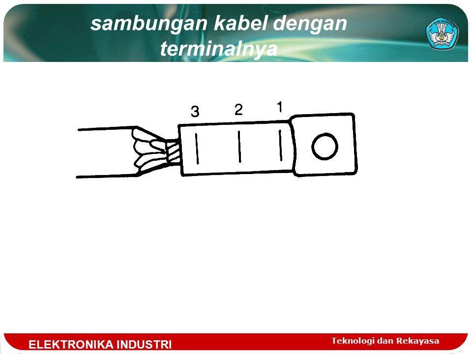 Teknologi dan Rekayasa sambungan kabel dengan terminalnya ELEKTRONIKA INDUSTRI