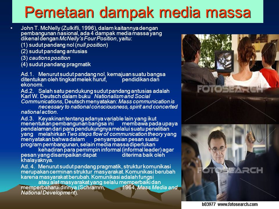 Pemetaan dampak media massa John T.
