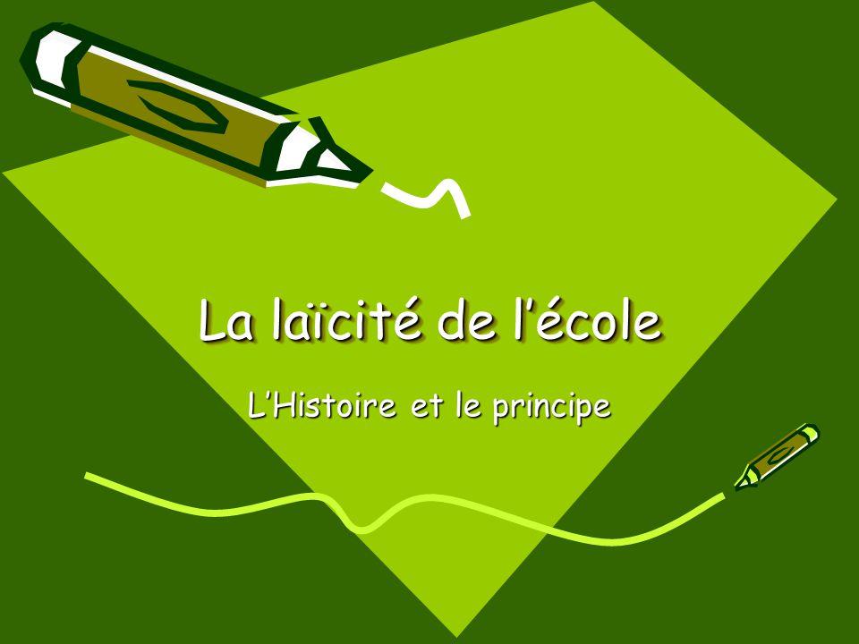 Prinsip Di Prancis, sekolah terbuka bagi siapa saja, apapun latarbelakang sosial, etnik dan agamanya.