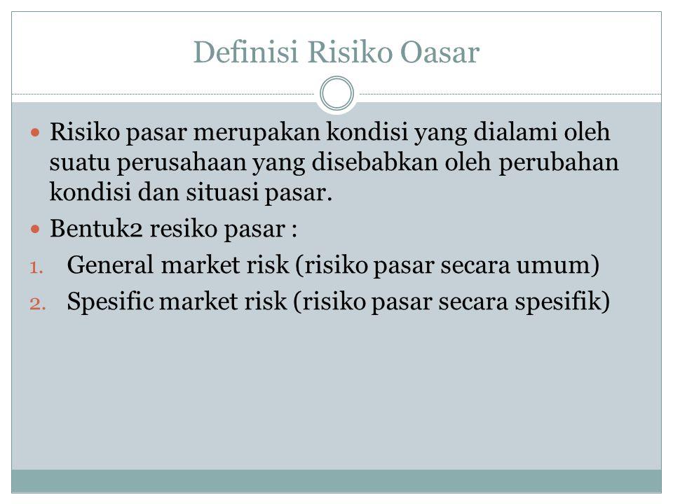 Kategori yang masuk General market risk 1.