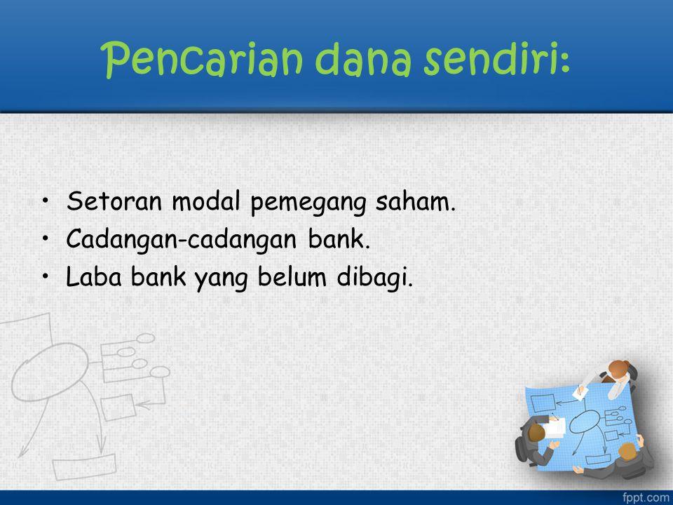 Secara umum kegiatan penghimpunan dana dar masyarakat luas:  Simpanan giro (demand deposit)  Simpanan tabungan (saving deposit)  Simpanan deposito (time deposit)