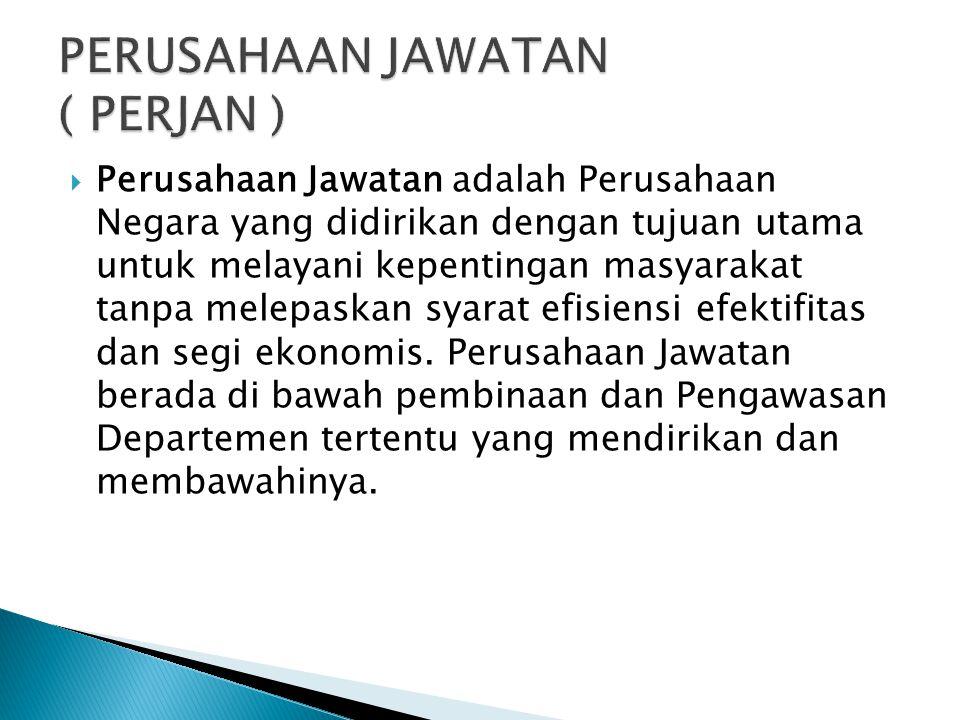 Ciri – ciri Perusahaan Daerah : ◦ Pemerintah memegang hak atas segala kekayaan dan usaha ◦ Pemerintah berkedudukan sebagai pemegang saham dalam permod