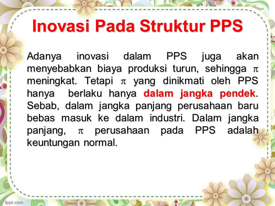 Inovasi Pada Struktur PPS Adanya inovasi dalam PPS juga akan menyebabkan biaya produksi turun, sehingga  meningkat.