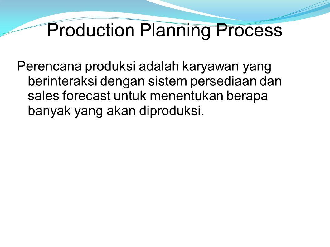 Tiga Prinsip Penting 1.Menggunakan sales forecast, dan berdasarkan tingkat persediaan yang ada, membuat perencanaan aggregate untuk semua produk.
