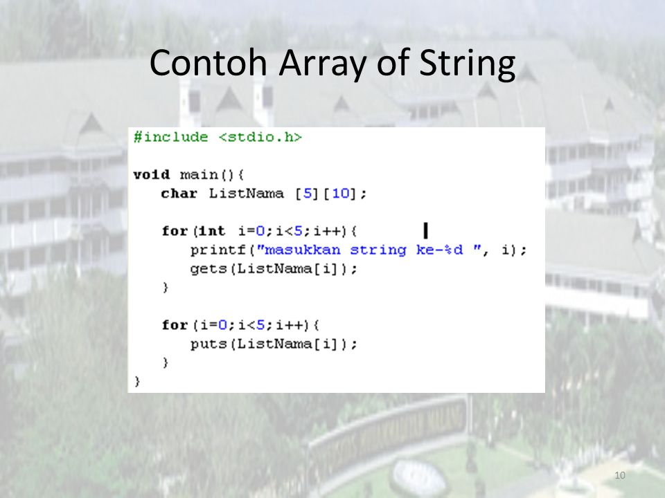 Contoh Array of String 10