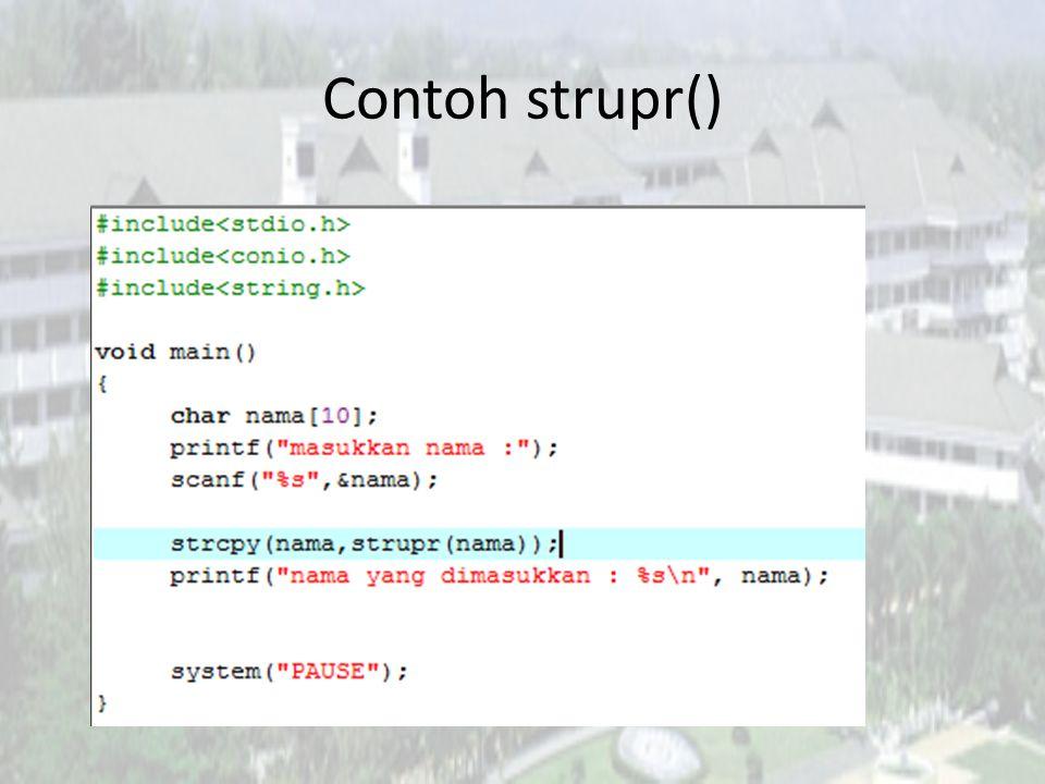 Contoh strupr()