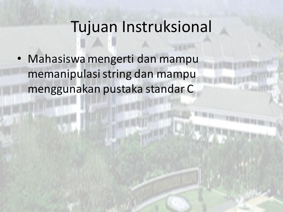 Topik Deklarasi String Operasi String