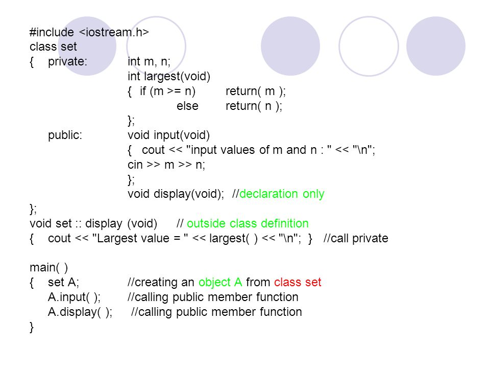 Memory Allocation of Objects Member Function 1 Member Function 2 Object 1 Member Variabel Object 2 Member Variabel