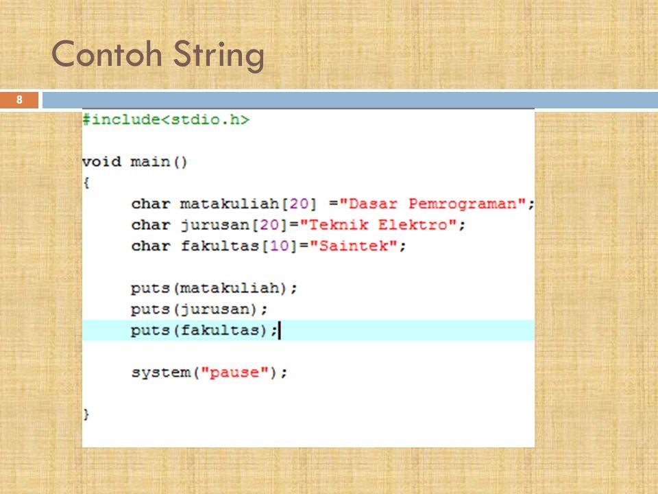 Contoh String 8
