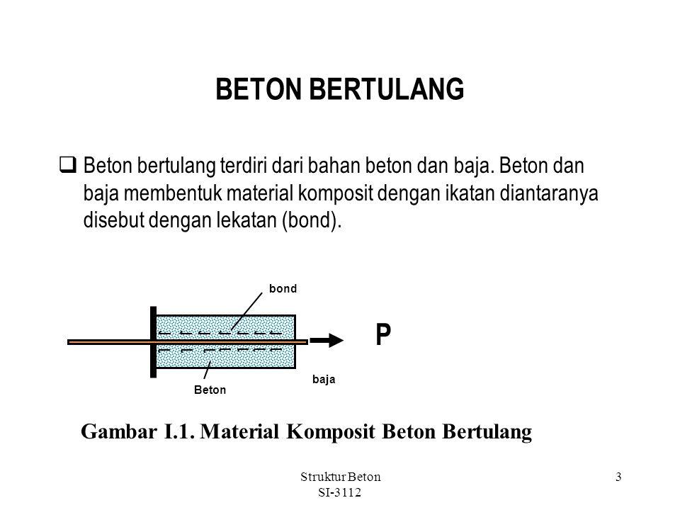 BETON BERTULANG  Beton bertulang terdiri dari bahan beton dan baja.