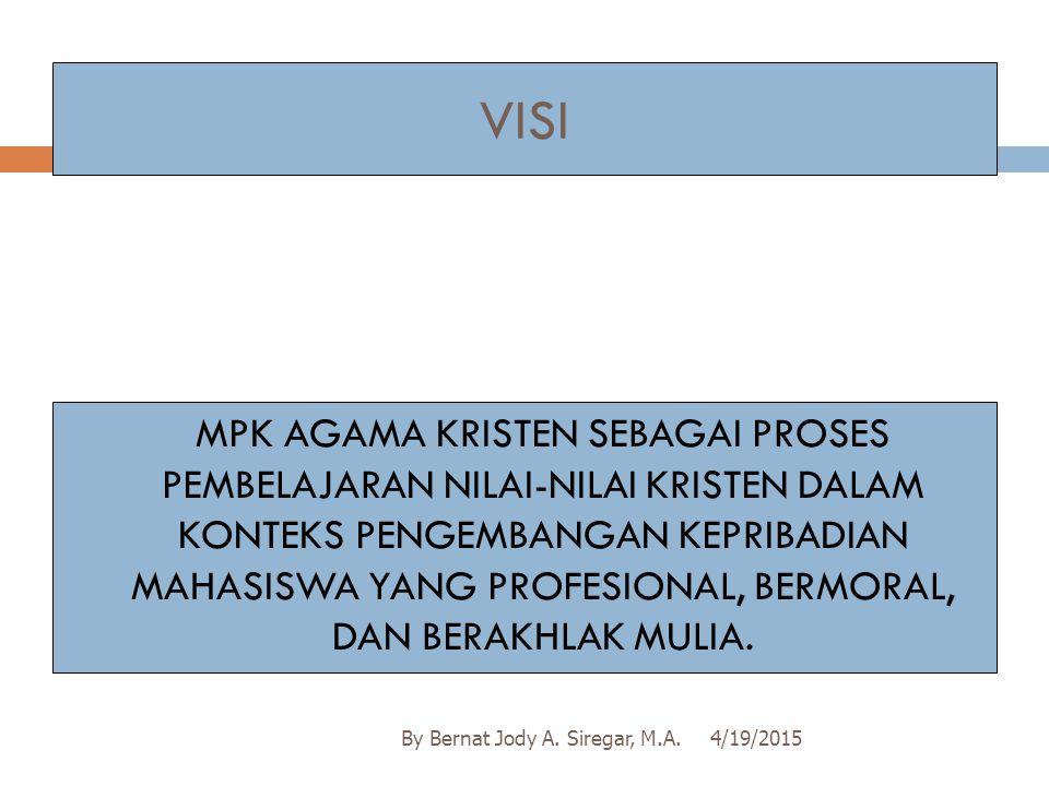 Pemicu III/PB III 4/19/2015By Bernat Jody A.Siregar, M.A.