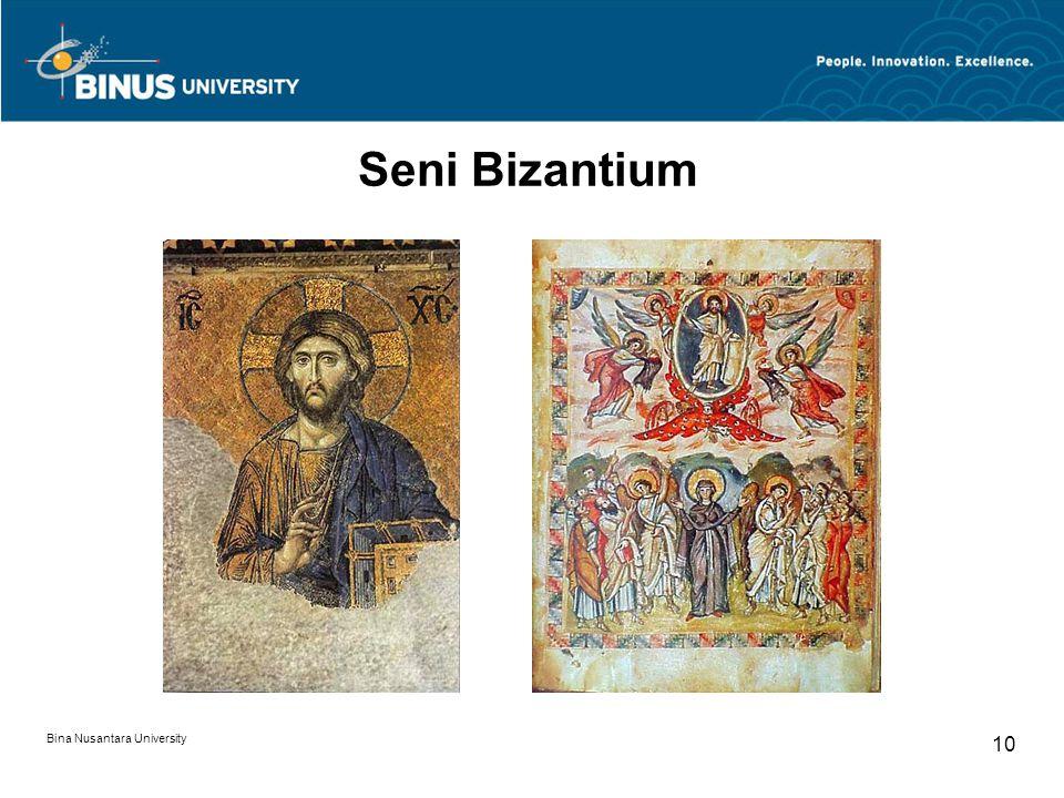 Bina Nusantara University 10 Seni Bizantium