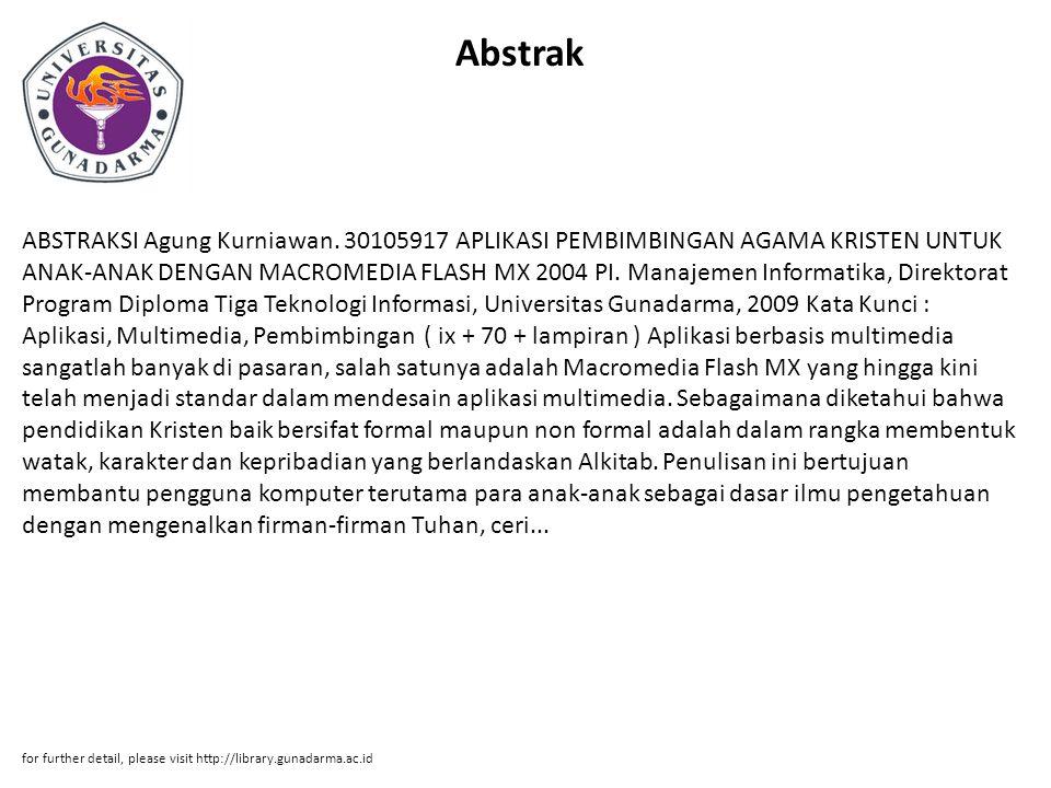 Abstrak ABSTRAKSI Agung Kurniawan.