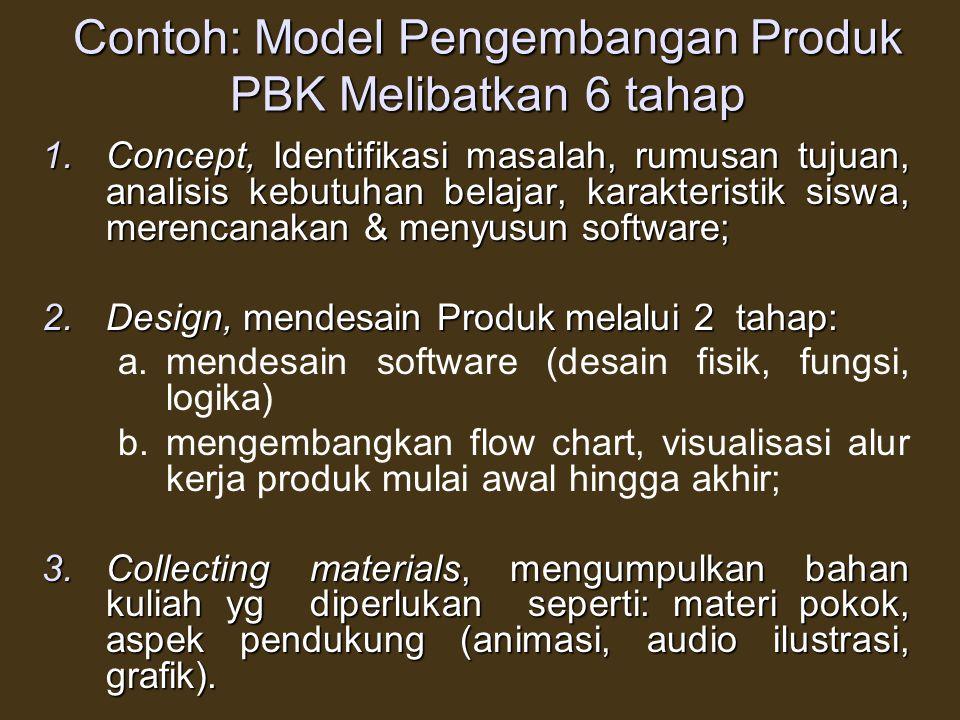 DALAM PENGEMBANGAN MODEL PERLU DIPERHATIKAN 3 HAL 1.Menggambarkan Struktur Model sebagai dasar pengembangan produk 2.Jika peneliti mengembangkan model