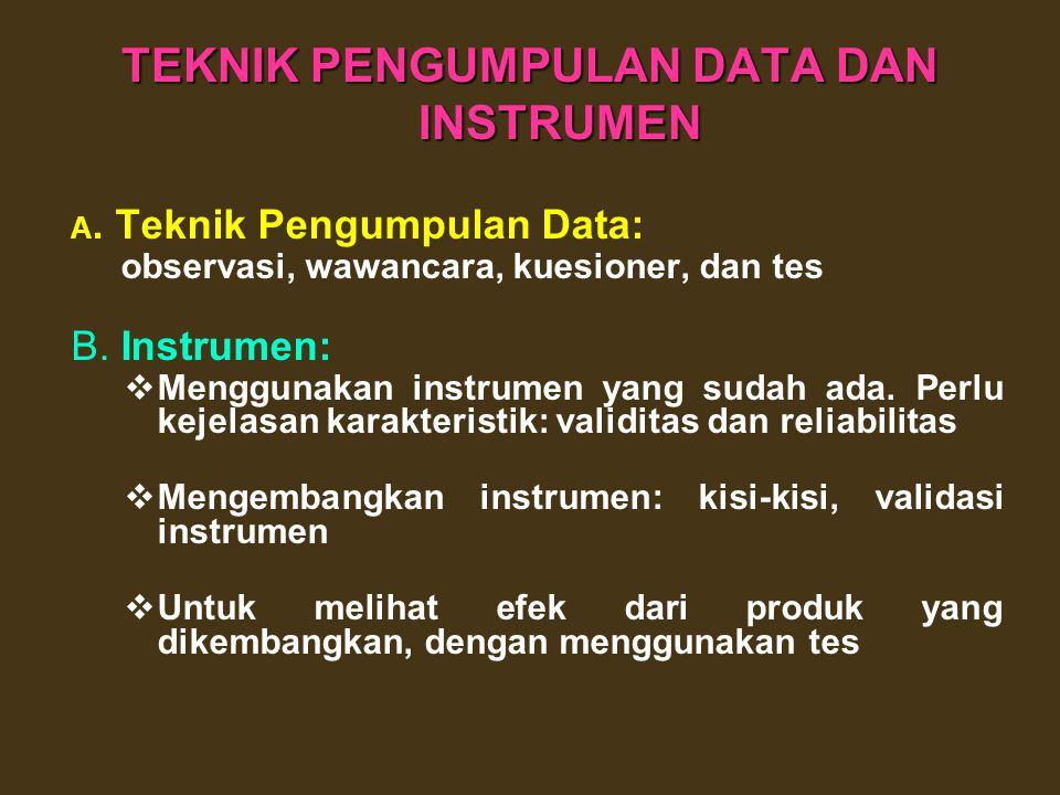 JENIS DATA TERKAIT DENGAN KRITERIA Aspek Instruksional: kejelasan standar kompetensi, kejelasan petunjuk belajar, kemudahan memahami materi, keluasan