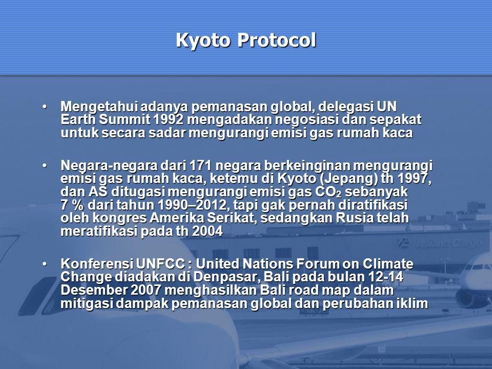 Mengetahui adanya pemanasan global, delegasi UN Earth Summit 1992 mengadakan negosiasi dan sepakat untuk secara sadar mengurangi emisi gas rumah kacaM