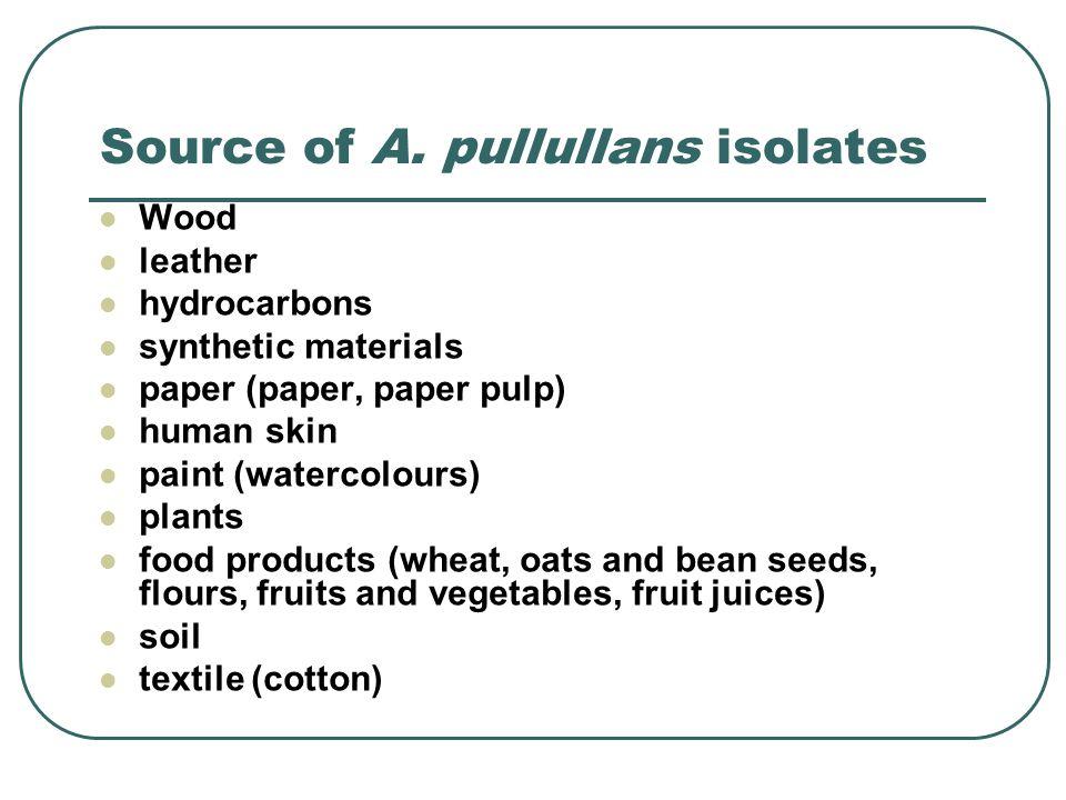 Aureobasidium pullulans in leather (flesh) Aureobasidium pullulans in leather (grain)