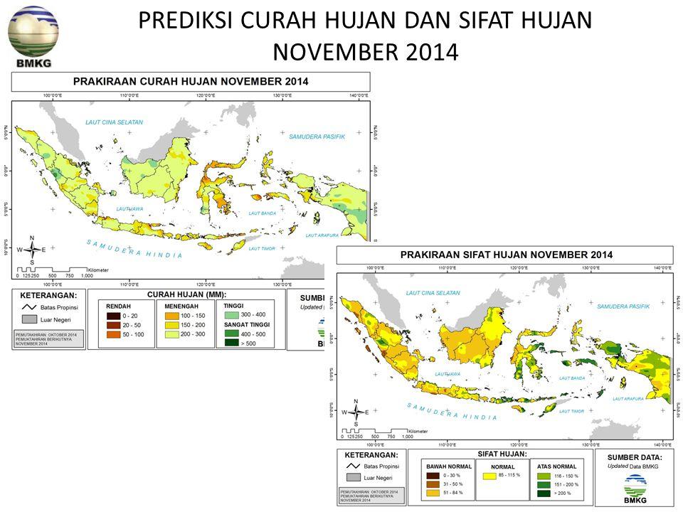 PREDIKSI CURAH HUJAN DAN SIFAT HUJAN NOVEMBER 2014