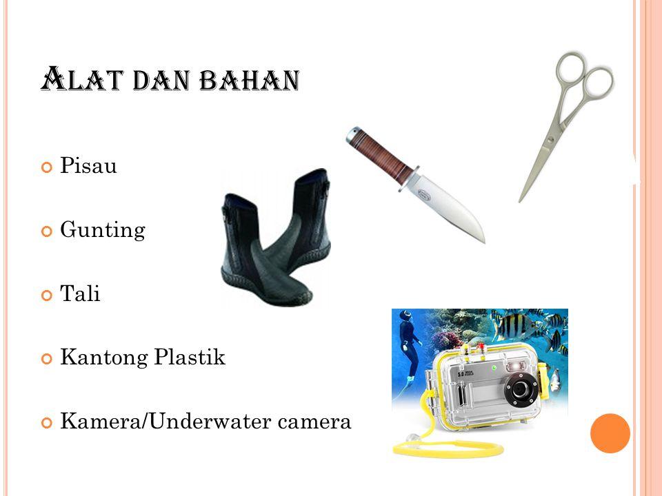 A LAT DAN BAHAN Pisau Gunting Tali Kantong Plastik Kamera/Underwater camera