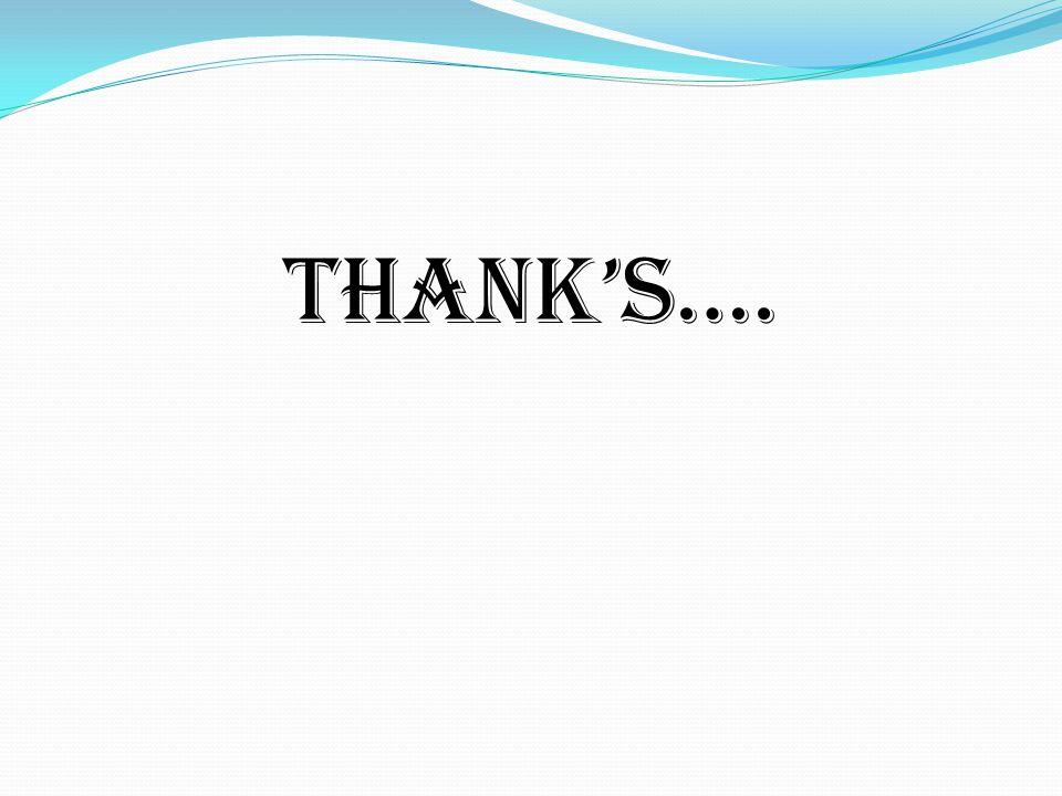 THANK'S….