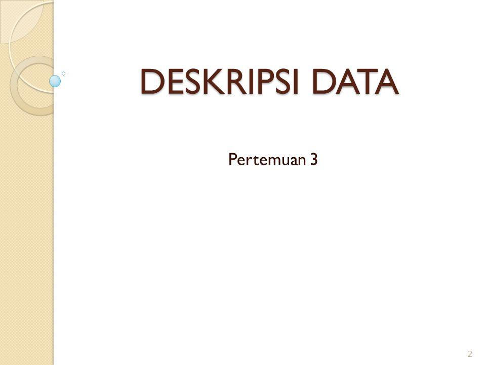 Mengukur derajat kemenjuluran distribusi data: Rumus Pearson Dimana ◦ SK = derajat kemenjuluran (skewness) ◦ = mean ◦ Mo = Modus ◦ S = Standar Deviasi 23