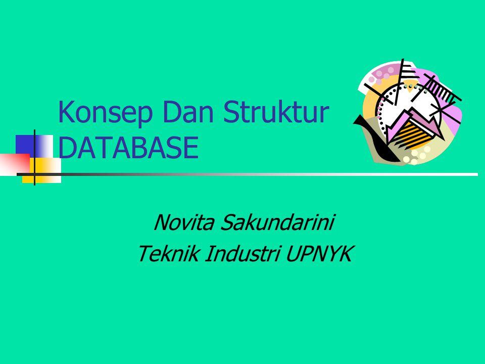 Konsep Dan Struktur DATABASE Novita Sakundarini Teknik Industri UPNYK