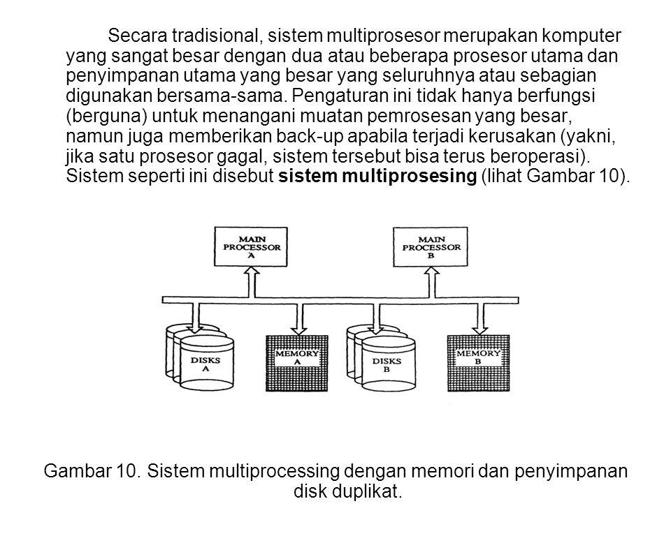 Secara tradisional, sistem multiprosesor merupakan komputer yang sangat besar dengan dua atau beberapa prosesor utama dan penyimpanan utama yang besar yang seluruhnya atau sebagian digunakan bersama-sama.