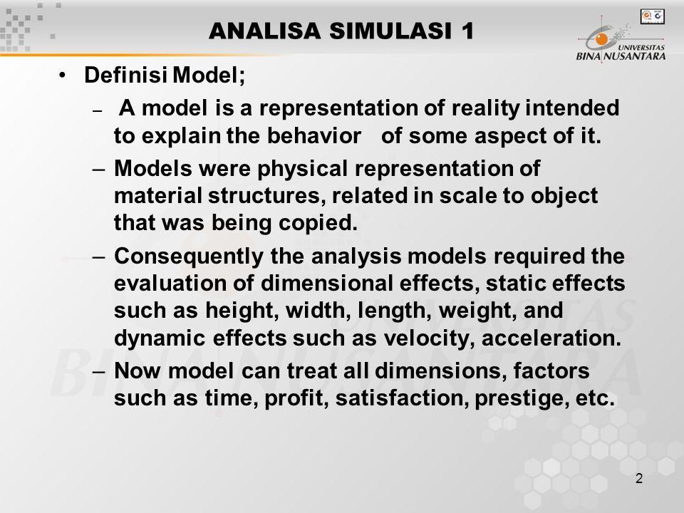 3 Dasar klasifikasi (Taksonomi) model; –Normative: Berkaitan dengan segala jenis norma (standar, rules).