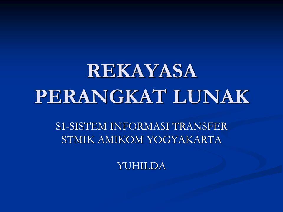 REKAYASA PERANGKAT LUNAK S1-SISTEM INFORMASI TRANSFER STMIK AMIKOM YOGYAKARTA YUHILDA