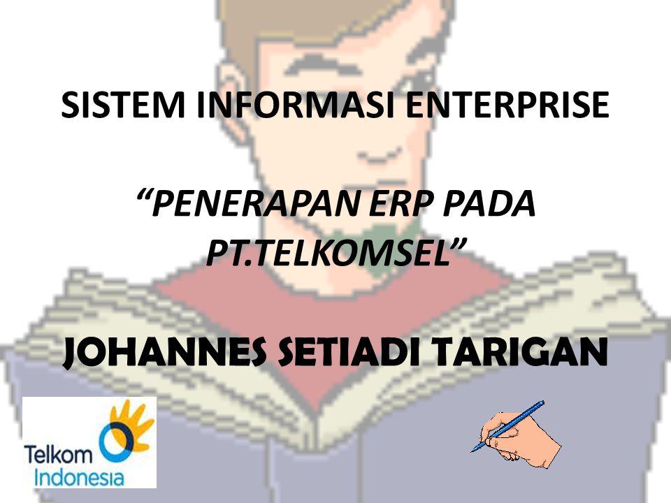 """SISTEM INFORMASI ENTERPRISE """"PENERAPAN ERP PADA PT.TELKOMSEL"""" JOHANNES SETIADI TARIGAN"""