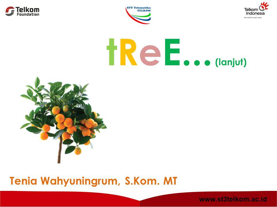 tReE... (lanjut) Tenia Wahyuningrum, S.Kom. MT www.st3telkom.ac.id