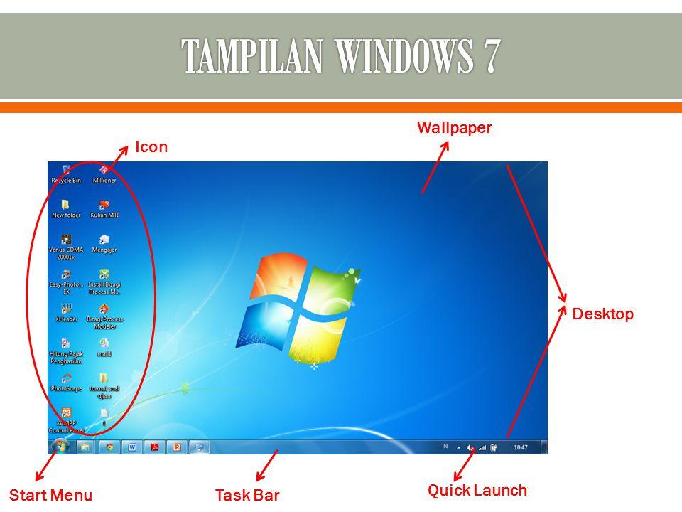 Icon Wallpaper Desktop Quick Launch Task BarStart Menu
