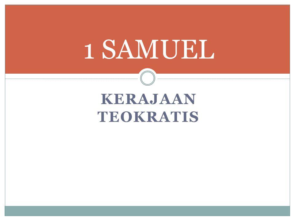 Latar Belakang Di PL Ibrani, 1 dan 2 Samuel merupakan satu kitab.