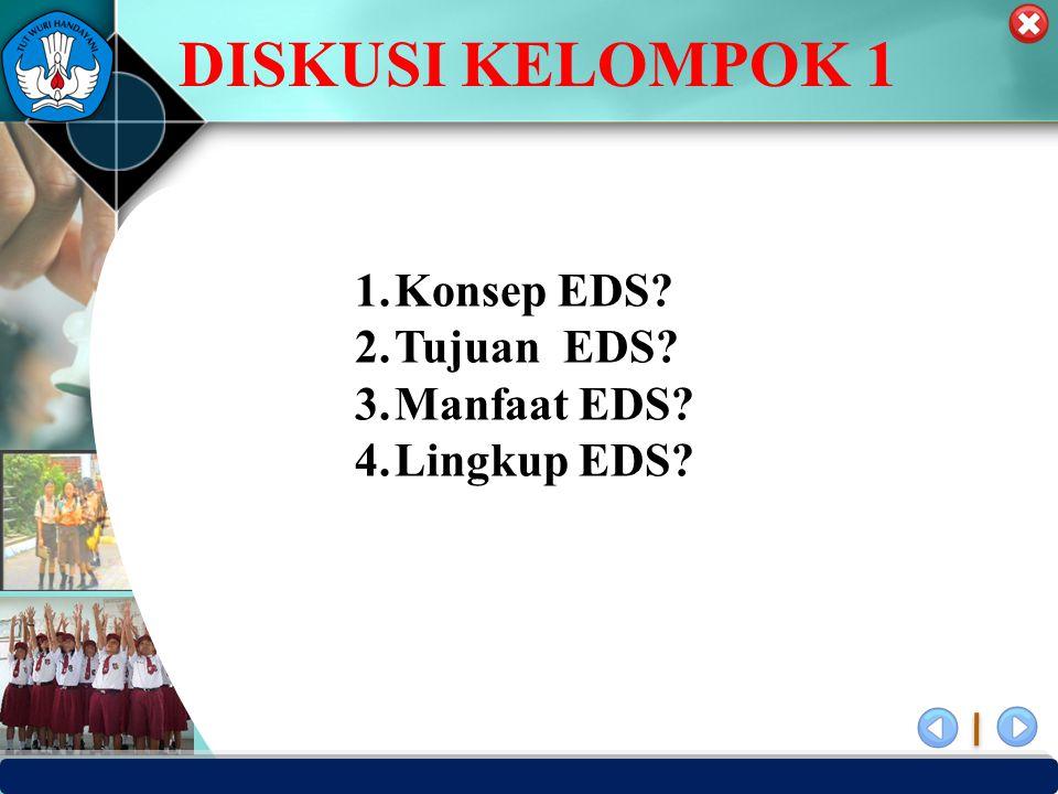 PUSAT PENJAMINAN MUTU PENDIDIKAN - BPSDMPK PPMP – KEMENDIKBUD -2012 1.Konsep EDS.