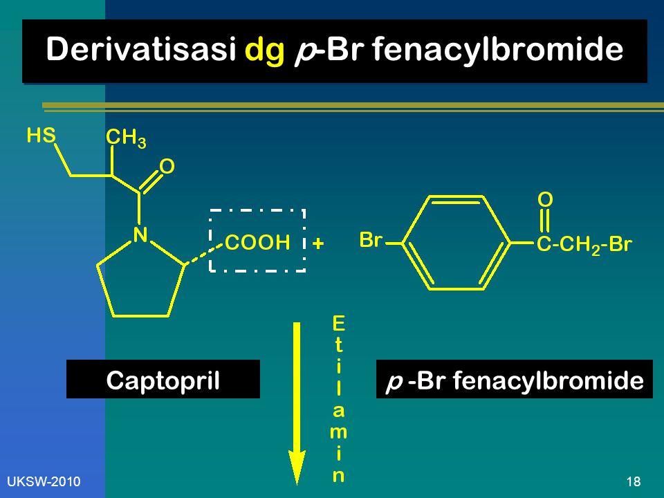 18UKSW-2010 Derivatisasi dg p-Br fenacylbromide Captoprilp -Br fenacylbromide