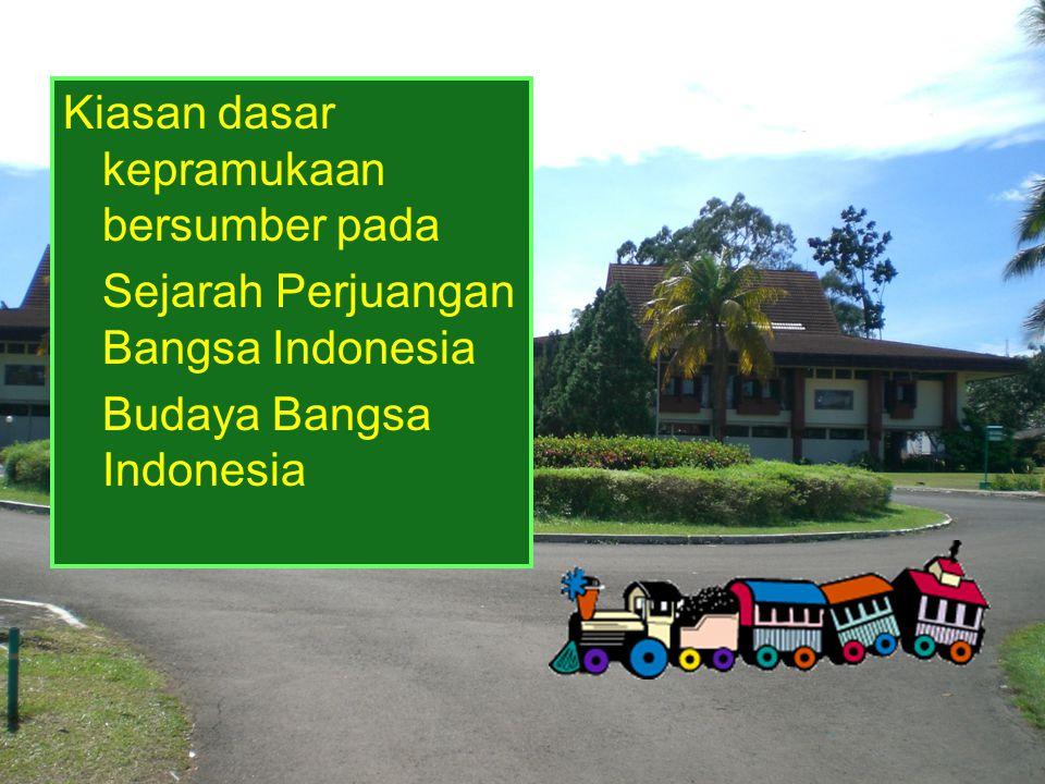 Kiasan dasar kepramukaan bersumber pada Sejarah Perjuangan Bangsa Indonesia Budaya Bangsa Indonesia