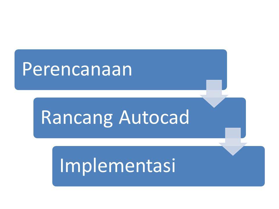 PerencanaanRancang AutocadImplementasi