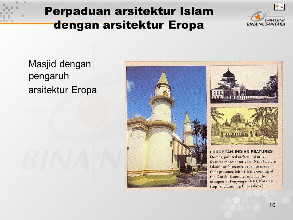 10 Perpaduan arsitektur Islam dengan arsitektur Eropa Masjid dengan pengaruh arsitektur Eropa