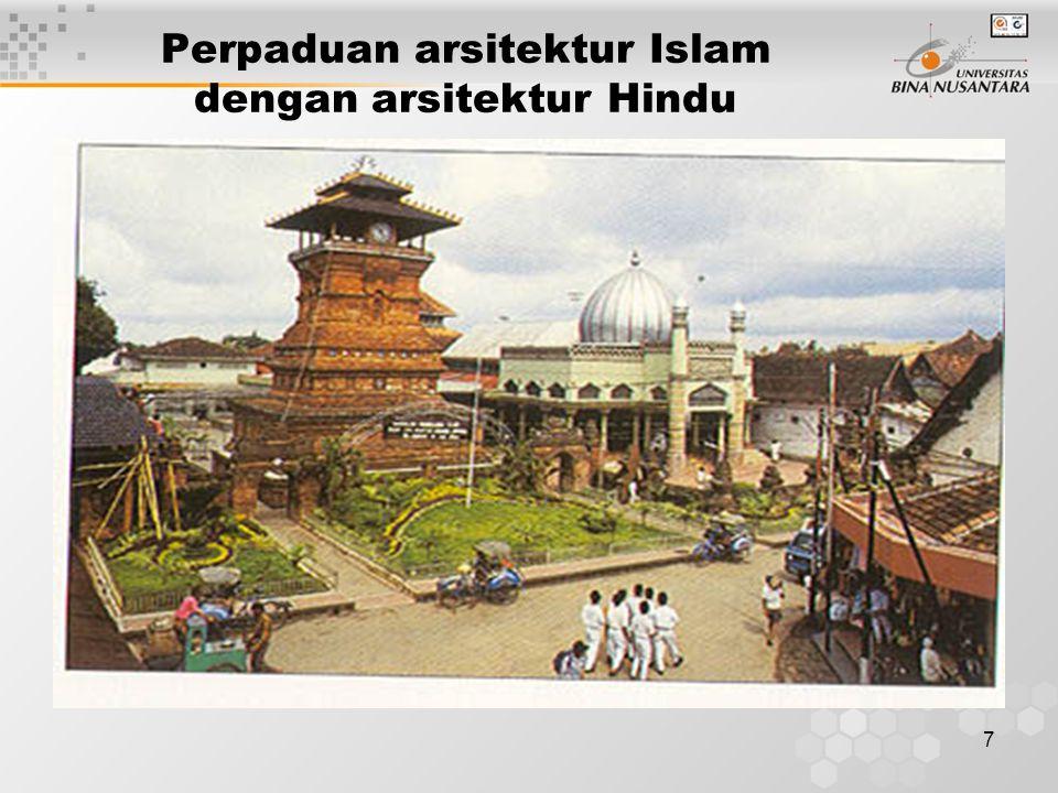 7 Perpaduan arsitektur Islam dengan arsitektur Hindu