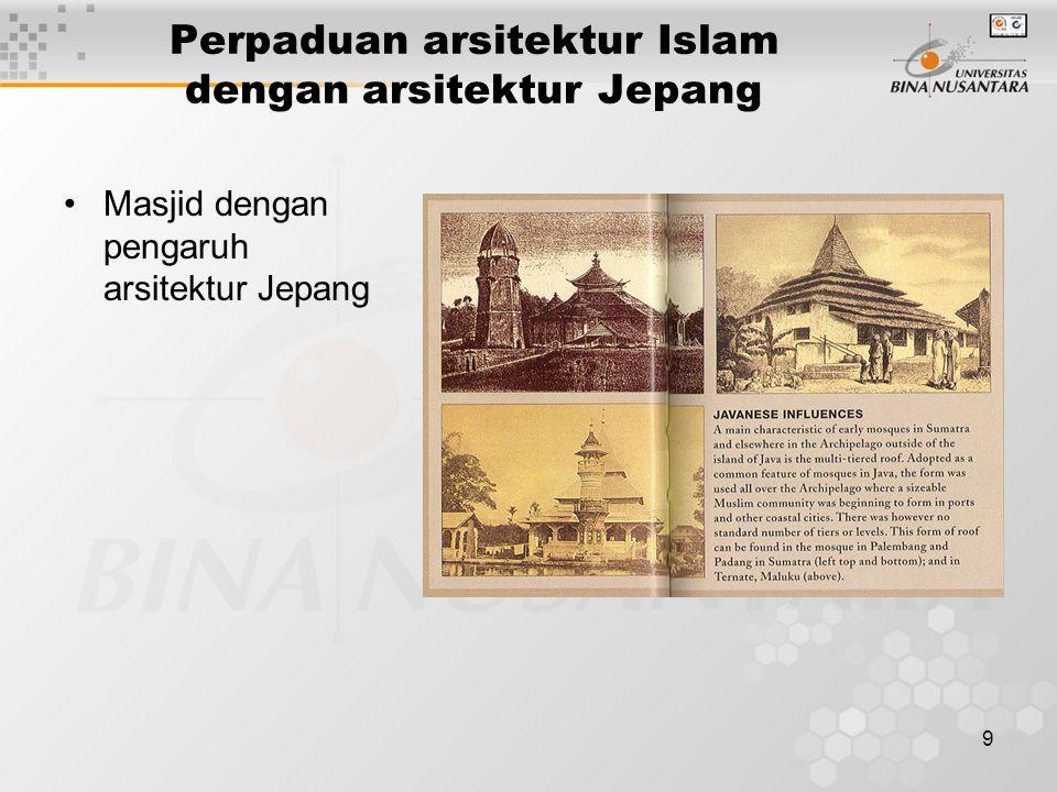 9 Perpaduan arsitektur Islam dengan arsitektur Jepang Masjid dengan pengaruh arsitektur Jepang