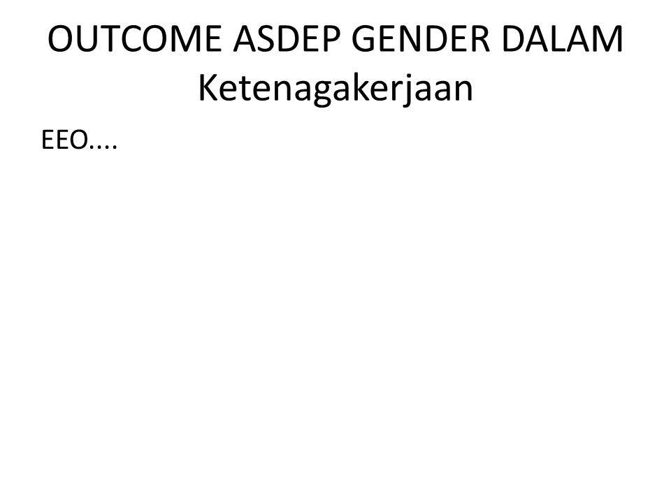 OUTPUT ASDEP GENDER DALAM IPTEK TA 2013 Output – I : Penyusunan Kebijakan/Pedoman Pelaksanaan PUG Bidang IPTEK (Riset dan Teknologi) dan Sumberdaya Ekonomi yang R/G Misalnya : Naskah Mou KPPPA dgn BPPT, Pedoman Teknis Pemanfaatan Teknologi Informasi dan Komunikasi (TIK) untuk kelompok perempuan, kajian pendayagunaan TIK bagi perempuan - Output – II : Fasilitasi 3 K/L dlm penerapan kebijakan pelaksanaan PUG bidang Iptek dan sumberdaya ekonomi, yaitu : Kemen Kominfo, Kemen PDT, dan Kementerian Ristek.